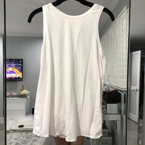 [ Lululemon ] White Open Back Tank Top